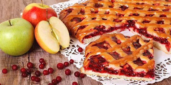 пошаговый рецепт пирога с брусникой
