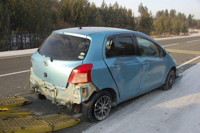 Автостопщики поехали вКемерово наугнанном авто ипопали вДТП