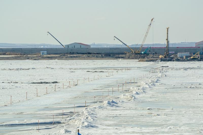 Строительство трансграничного моста Благовещенск-Хэйхэ идет пографику