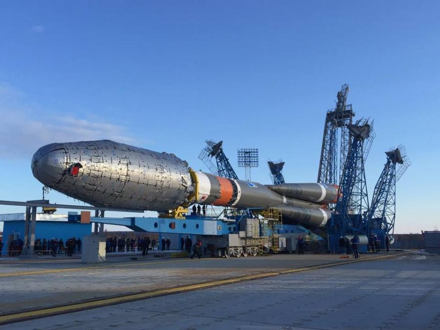 Ракета-носитель «Союз-2.1б» готова к вывозу на стартовый комплекс космодрома Восточный