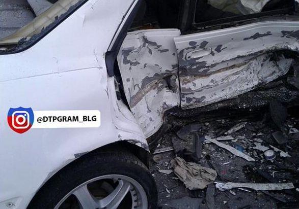 ВБлаговещенске столкнулись Тоёта MarkII и Хонда Civic, есть погибший